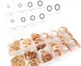 140 Piece Solid Copper Washers Assortment Set / Kit TZ HW180