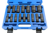 "16pc 1/2"" Dr 6 Point European Deep Impact Socket Set 10- 32mm Bergen 1358"