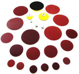 24pc Surface Prep Kit Polishing Polish Sanding Flat Discs Arbours Pads CT3125