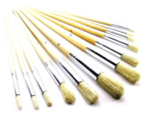 12pc Artist Craft Jumbo Brushes Round Head Wooden Handles Paint Brushes BR016