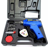Electric Soldering Iron Kit Set with Solder / Flux 100W Gun & Carry Case  HB281