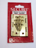 Security 75mm Brass Coated Steel Butt Hinge S4305