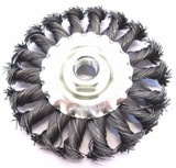 100mm Steel Twist Knot Wire Flat Wheel Brush Vewerk By Bergen 2104
