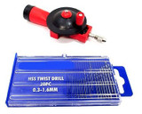 Mini Hand Drill & 20pc HSS Micro Drill Bits Crafts Hobby Jewellery DR043 DR074