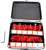 """Neilsen 12pc Quality Router Bit Set 1/4"""" 6mm Shank Woodworking Tool Kit CT0504"""