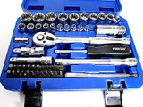 "52pc 1/4"" & 3/8"" Dr Professional Gear Lock Socket Set & Bit Set 3274"