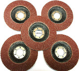115mm 40 Grit Flap Discs Pack of 5 for Grinder, Abrasives  TZ AB010