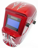 Red Arrowhead Welding Helmet With Auto Darkening Filter CE Ap By Bergen BR 2909