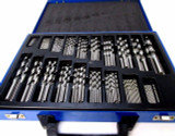 BERGEN 170pc Twist Drill Bit Set Metric HSS 1mm - 10mm In Suitcase 2522