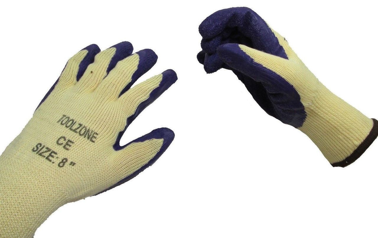 Latex Dipped Gardening Gloves XS S M L XL 7 8 9 10 11 Inch