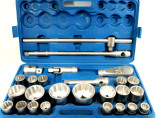 "26pc 3/4"" Dr and 1"" Dr Shallow Socket Set 21mm - 65mm Metric Sizes Ratchet SS301"