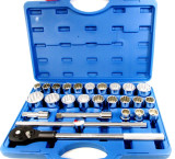 "27pc 3/4"" Drive IMPERIAL / METRIC Chrome Vanadium Socket Tool Set AF / MM SS304"