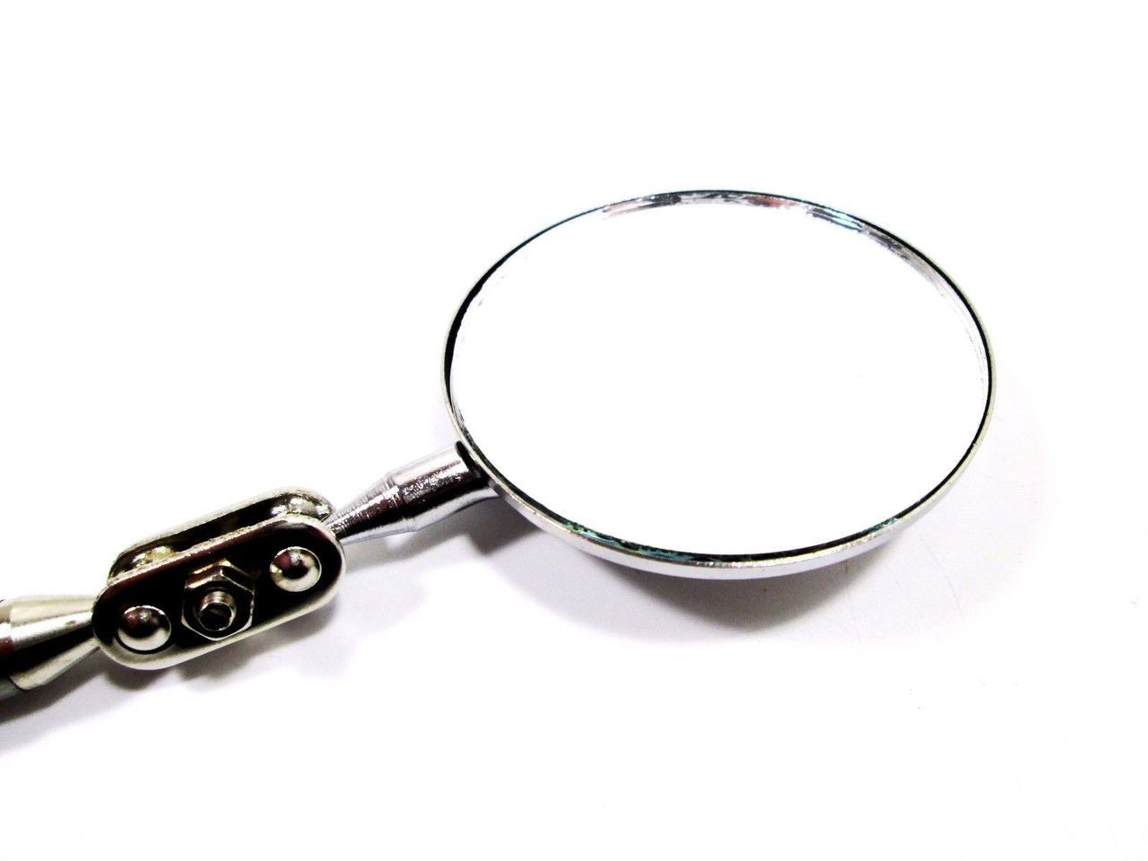 5cm Round Ext Inspection Mirror Telescopic Extending Large Angle