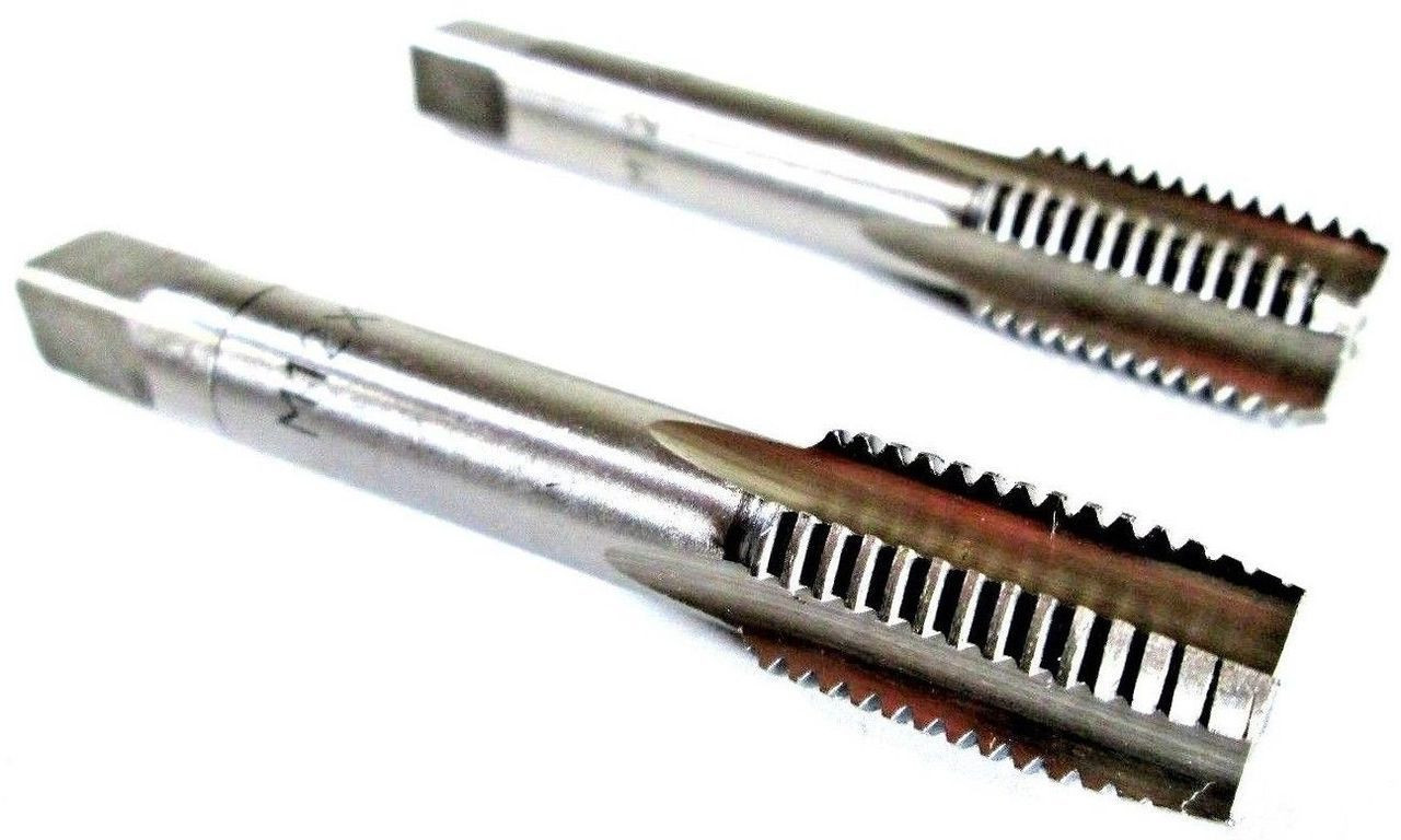 M12 x 1.5mm Metric Tap Set Tungsten Steel Taper and Plug Thread Cutter