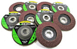 "10 x Flap Discs 40 Grit Angle Grinder 4.5"" (115mm) Flat Sanding Grinding"