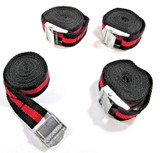4 Cam Buckle Tie Down Strong Straps Roof Rack Luggage Cargo 25mm X 2.5m  TD028