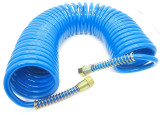 "US PRO Polyurethane Self Recoil Air Hose 10m 1/4"" Female Air Line BSP 8192"