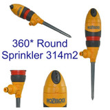 HOZELOCK AQUASTORM 360 Sprinkler Round Hose Pipe Watering Stake Spike Plus 2332