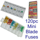 120pc Mini Car Blade Standard Assortment Automotive Auto Fuse Fuses 5 - 30 Amp