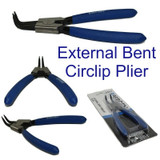 "6"" 150mm External Bent Nose Circlip Snap Ring Plier Pliers Rubber Handles 1817"