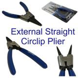 "6"" 150mm Straight External Circlip Snap Ring Plier Pliers Rubber Handles 1816"