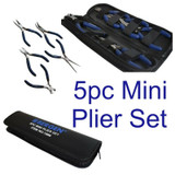 5pc Mini Pliers Cutter Storage Case Craft Model Electric Cutting Long Nose 1996
