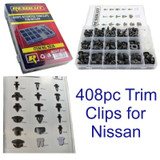408pc Nissan Trim Clip Assortment Set Retaining Retainer Grommet Clips Fixings