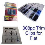 308pc Fiat Trim Clips Rivets Retaining Retainer Grommet Clip Assortment Fixings