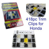 418pc Honda Trim Clips Rivets Retaining Retainer Grommet Assortment Fixings 9047