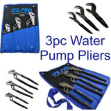 "US PRO 3pc Water Pump Waterpump / Plumbers Plier Wrench Set  8"" 10"" 12"" 1830"