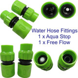 "2pc 1/2"" Female Hose Fittings Connectors 1 with Water Stop Fits Hozelock etc"