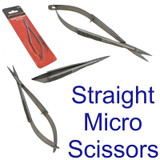 Neilsen Straight Fine Point Stainless Steel Spring Action Micro Scissors CT4305
