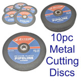 Arrow Pipeline Metal Cutting Discs 230 x 4 x 22 mm Pack of 10 A30RBF