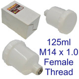 125ml Spray Paint Cup Air Gravity Feed Paint Spray Pot for Spray Gun M14 8159
