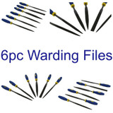 6pc Warding File Set Engineering Precision Needle Hobby Bearing Steel WW203