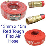 13mm x 15 Metre / 50 Feet Compressor Airline Air Hose Internal Soft Rubber 8163