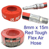 8mm x 15 Metre / 50 Feet Compressor Airline Air Hose Internal Soft Rubber 8161