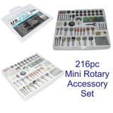 216pc Mini Rotary Accessory Kit Fits Dremel Sanding Grinding Cutting Polishing