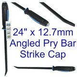 "US PRO 24"" x 12.7mm Angled Pry Wrecking Crow Bar Heavy Duty Strike Cap 6852"