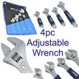 "US PRO 4pc Adjustable Monkey Pipe Spanner Wrench Set 6"" 8"" 10"" 12"" 1835"