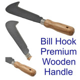 "17"" 435mm Bill Hook Wood Handle Curved Blade Hedge Branch Cutter Chopper GD298"