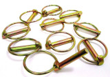 US Pro 10pc 8mm Lynch Pin Ring Clip Set Linch Pins Trailer Retaining Clips 9024