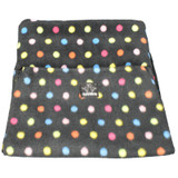 Genuine New Zealand Polo Pancho Black Multi Spot Scarf Snood Hat Balaclava Poncho 20 Ways To Wear