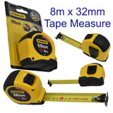 Tape Measure Measuring Rule with Magnetic Hook 8m x 32mm Stanley FatMax 0 33 959
