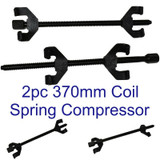 Coil Spring Compressor Kit Universal 370mm Long 4 x Hook 2pc CAR023
