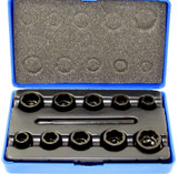 Bolt Extractors Socket Lock Nut Remover Extractor 11pc US Pro 2633