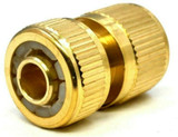 Brass Hose Quick Connector 1/2 Inch Female Pipe Built In Auto Water Stop