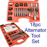 18pc Alternator Freewheel Pulley Removal Service Tool Set CAR001