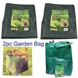 Collapsable Garden Bag Sack Folding Sacks Bags Green Blade x 2 GB100
