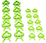 Garden Plant Support Spring Clips 20pc Set Canes Sweet Peas Netting GD267